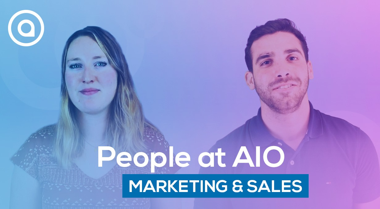 Marketing and sales team at AIO people testimony