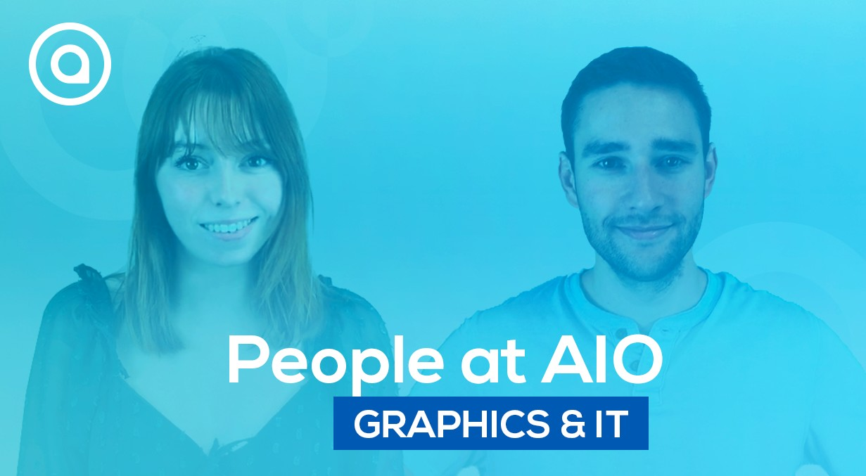 Graphics designer and IT team at AIO people testimony