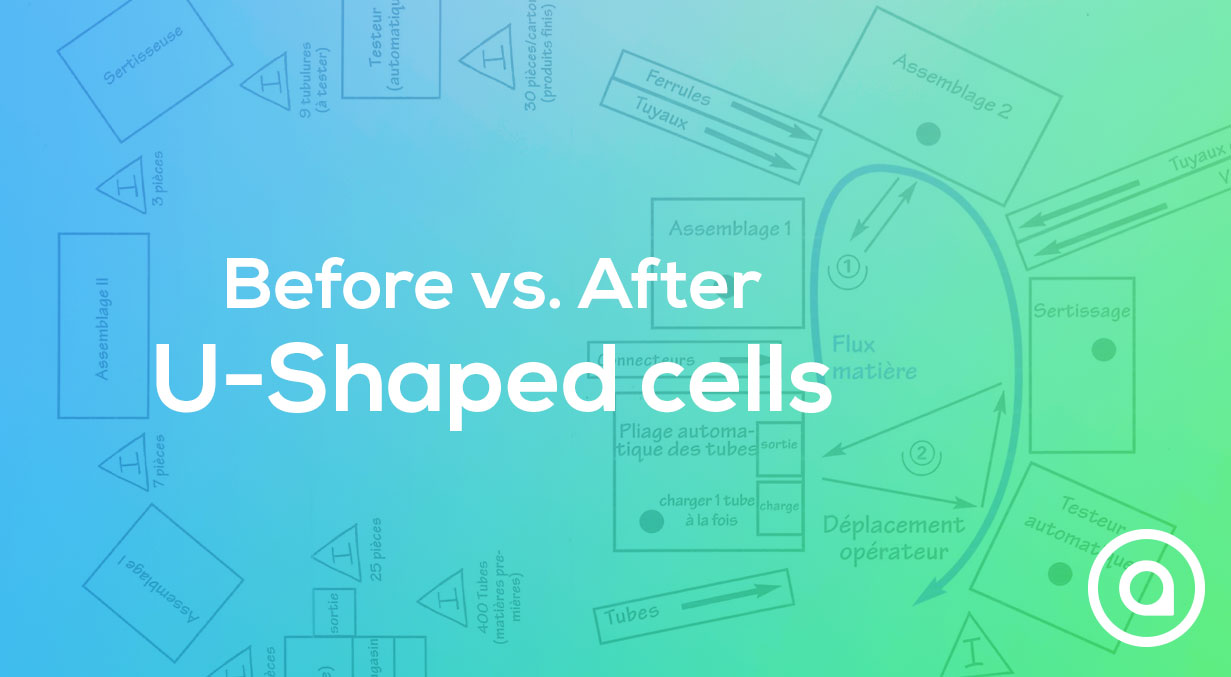 Before and after u shaped cells shopfloor