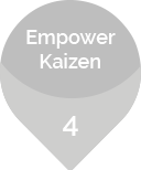 Fourth benefit of the Karakuri Kaizen : empower kaizen.