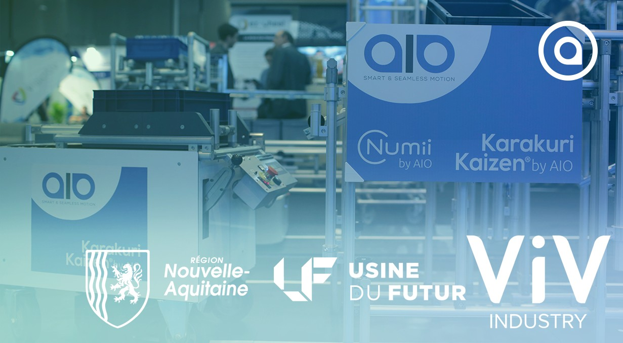 ViV Industry 2019 Nouvelle-Aquitaine with AIO karakuri Kaizen AGV and Shishi Odoshi